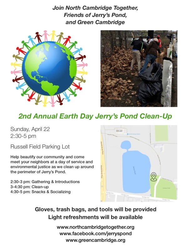 Jerry's Pond Cleanup Flyer - Earth Day 2018